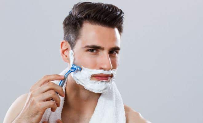 Clean shaven beard