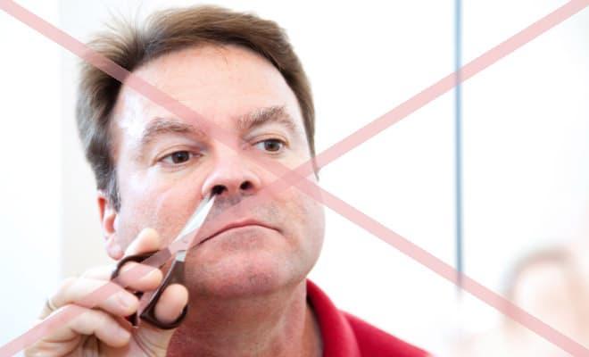 Avoid nose hair scissors