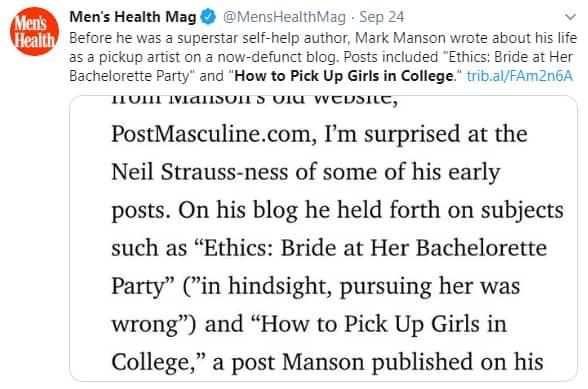 Mark Manson on Twitter