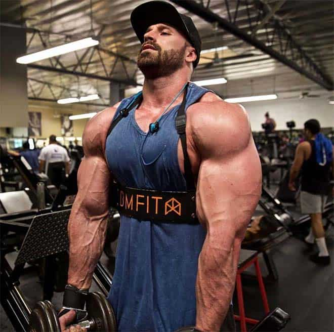 Bradley Martyn working out